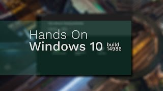 In this video we are having a closer look on the latest build of Windows 10 released for PC'sWindows 10 Insider Preview Build 14986 brings the following improvements and fixes:- 1:13 Windows Defender App- 2:40 New Cortana Voice Commands- 6:50 Windows Ink Improvements- 7:30 Microsoft Edge Extensions- 10:36 Additional Fixes and changes