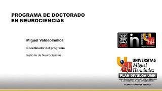 Presentación Del Programa De Doctorado Del Instituto De Neurociencias