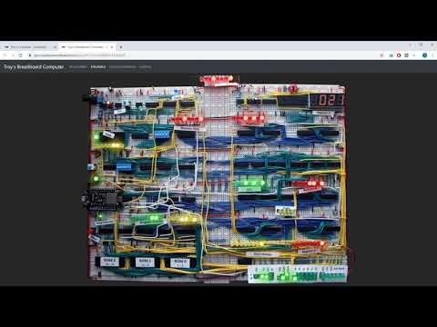 Troy's breadboard computer - Emulator