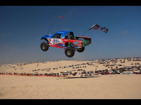 pismo - Highlight video of action at huckfest 2013. Jump compilation featuring Trophy trucks, Sand Rails, Pre-Runners, Monster Trucks, etc. Huck fest event held at O...
