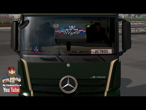 Lighting Nameplate + Telepass Mod for Actros MP4