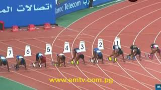 Canadian Sprinter, Andre De Grasse, and Jamaican Elain Thompson, set new records in the Diamond League meet in Rabat. The Diamond League is an annual series of track and field meetings run by the International Association of Athletics Federations, currently held in Rabat, Morocco. - visit us at http://www.emtv.com.pg/ for the latest news...