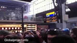 Milano. #NoBordersTrain, Violati I Cordoni Di Polizia In Stazione Centale - 21.06.14 -