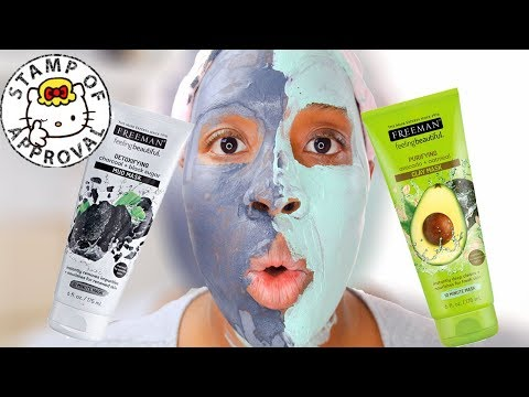 Freeman Charcoal and Black Sugar MUD Mask vs. Freeman Avocado & Oatmeal Clay Mask! REVIEW