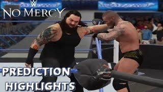 WWE 2K16 Randy Orton vs Bray Wyatt | No Mercy 2016 - Prediction Highlights
