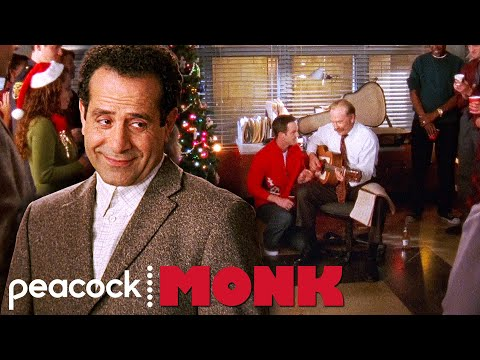 Randy Sings O Holy Night at the Christmas Party | Monk