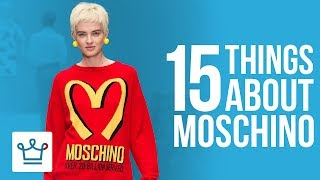 15 Things You Didn't Know About MOSCHINO  SUBSCRIBE to ALUX: https://www.youtube.com/channel/UCNjPtOCvMrKY5eLwr_-7eUg?sub_confirmation=1Moschino's Barbie & Ken (Most Expensive): https://www.alux.com/most-expensive-barbie-doll-set/Moschino Interior Design: https://www.alux.com/maison-moschino-hotel/In this Alux.com video we'll try to answer the following questions:What is Moschino?Is Moschino a luxury brand?How much does Moschino cost?What is the best Moschino item?Where to buy Moschino?Moschino review?Top 10 Things to buy at Moschino?How much does a Moschino dress cost?Does Moschino do fashion shows?Who is the founder of Moschino?How did Moschino get started?WATCH MORE VIDEOS ON ALUX.COM!Most Expensive Things: https://www.youtube.com/watch?v=Ay0u3dJRZas&list=PLP35LyTOQVIu4tNnitmhUqIjySwUhfOylLuxury Cars: https://www.youtube.com/watch?v=m5GhenZZs1k&index=1&list=PLP35LyTOQVItrVHGzdB9KY-Sbjq4gU-YmBecoming a Billionaire: https://www.youtube.com/watch?v=Skwfwf2SNpw&index=6&list=PLP35LyTOQVIsO8kOTx8-YOgwkGvrPtJ3MWorld's Richest:  https://www.youtube.com/watch?v=rAy_G-1JF74&index=1&list=PLP35LyTOQVIvthSKr0S3JdjWw3qA9foBaInspiring People: https://www.youtube.com/watch?v=lMjO3Gg45pM&list=PLP35LyTOQVItaKCX5o3yaje6_H9D-GuEMTravel the World:https://www.youtube.com/watch?v=-Blsz2JbdgM&t=2s&index=23&list=PLP35LyTOQVIt823Sy_C3-166RLzONbw6WDark Luxury: https://www.youtube.com/watch?v=ch7JWVk8Ldk&index=6&list=PLP35LyTOQVIvQU6lzpW5_lryMmdB6zncUCelebrity Videos: https://www.youtube.com/watch?v=UuhPRVdDli0&list=PLP35LyTOQVIuJuINlyvSU2VvP6pk9zjUkBusinesses & Brands: https://www.youtube.com/watch?v=Xr2YdBz2uWk&list=PLP35LyTOQVIv0fNwEgqmkrDd9d9Nkl7dz-Follow us on INSTAGRAM for amazing visual inspiration:https://www.instagram.com/alux/&Don't miss the latest Luxury News only on Facebook:https://www.facebook.com/ealuxe---Alux.com is the largest community of luxury & fine living enthusiasts in the world. We are the #1 online resource for ranking the most expensive things in the world and frequently refferenced in publications such as Forbes, USAToday, Wikipedia and many more, as the GO-TO destination for luxury content!Our website: https://www.alux.com is the largest social network for people who are passionate about LUXURY! Join today!SUBSCRIBE so you never miss another video: https://goo.gl/KPRQT8--To see how rich is your favorite celebrity go to: https://www.alux.com/networth/--For businesses inquiries we're available at:https://www.alux.com/contact/