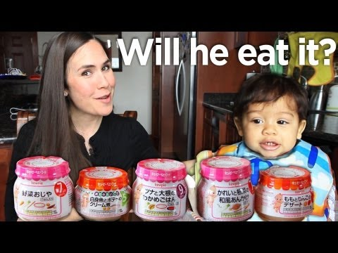 japanese - http://MamaNatural.com Reuploaded this one because my son deleted the original while using my phone ツ Baby Mycah loves to eat. But will he go for exotic (you...