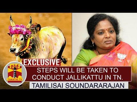 Steps-will-be-taken-to-conduct-Jallikattu-in-Tamil-Nadu--Tamilisai-Soundararajan-Thanthi-TV