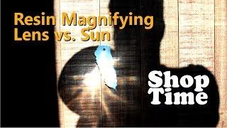 Resin Magnifying Lens vs. Sun