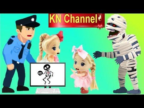 Đồ chơi trẻ em QUÀ TẶNG HALLOWEEN BẤT NGỜ VÀ SỰ CỐ THANG CUỐN CỦA BÚP BÊ KN Channel - Thời lượng: 11:14.