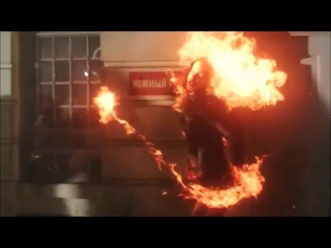 DC's Legends Of Tomorrow 1x05 Soviet Firestorm fight and turns nuclear scene
