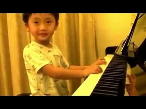 4 Year Old Piano Master