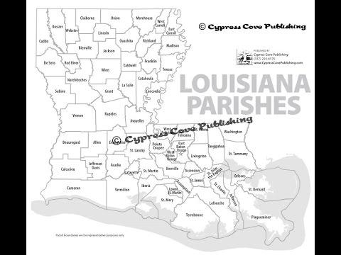 Louisiana Parishes Maps by Cypress Cove Publishing