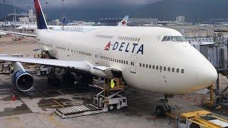 Full Flight - (DL245) Delta B747-451 - Rome (FCO) to New York (JFK)