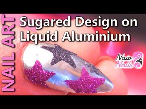 nail art - effetto zucchero su alluminio
