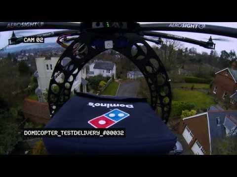天上竟然會掉下披薩!?送外賣的無人機!
