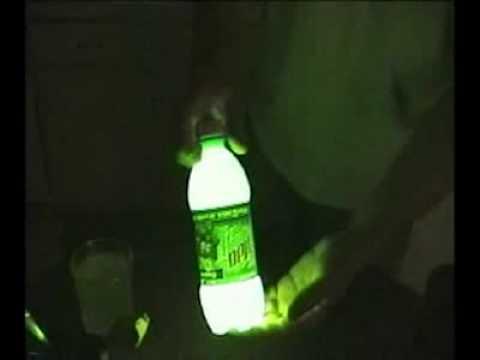 Как сделать светящуюсю воду