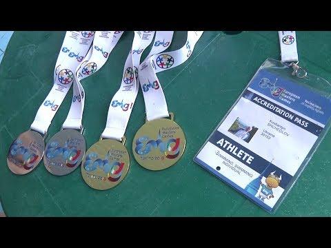 86-річний житомирянин виборов чотири медалі з плавання на Європейських Іграх