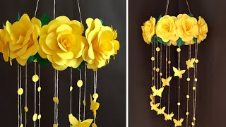 Paper Rose Flower Wall hanging   Home Decor Ideas
