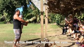 http://cook-islands-holiday-guide.blogspot.com/ Once you're done with husking the coconut you now want to crack it open, ...