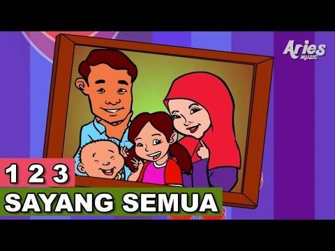 Alif & Mimi - 1 2 3 Sayang Semuanya (Animasi 2D) Lagu Kanak Kanak