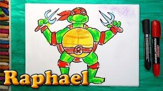 Как нарисовать рафаэля из черепашек ниндзя