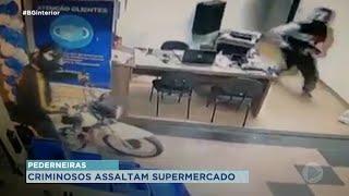 Polícia procura por dupla que roubou mercado em Pederneiras