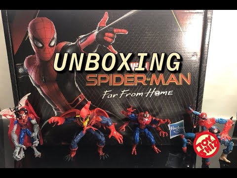 SPIDER-MAN FAR FROM HOME Hasbro Promo UNBOXING