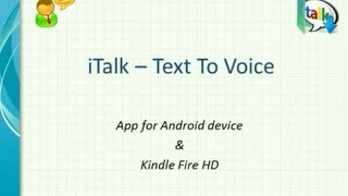 iTalk - Text to Voice YouTube video