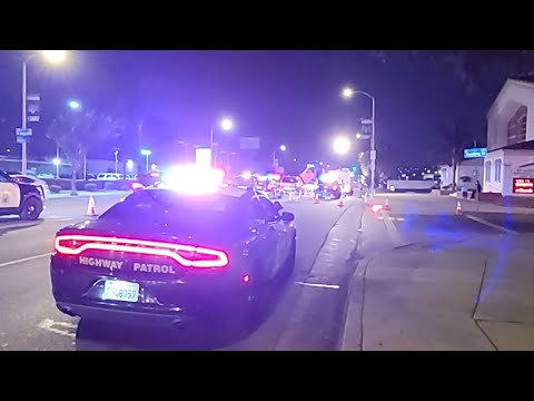 Checkpoint In East Los Angeles On Atlantic And 6th St