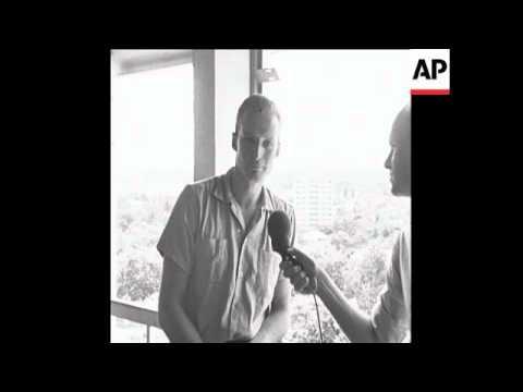 CAN396 GERMAN MERCENARY SPEAKS TO REPORTER