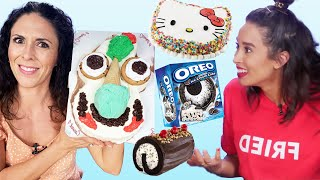 Taste Testing the Best Ice Cream Cakes! (Cheat Day) by Clevver Style