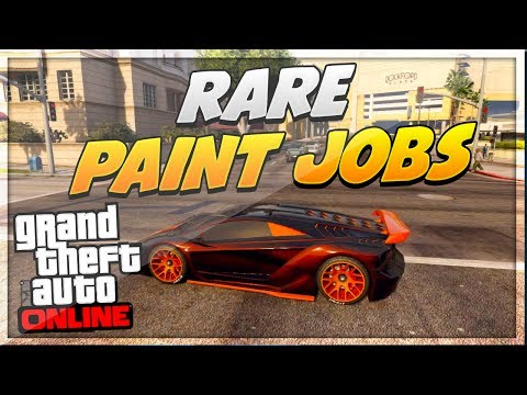 "GTA 5 Paint Jobs: Best Rare Paint Jobs Online! (Tron, Nebula, Dragon) ""GTA 5 Secret Paint Jobs"""
