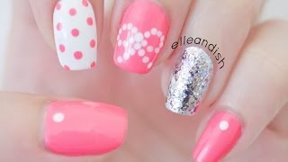 ❤ Easy Bow Nails...Using Dots! ❤ - YouTube