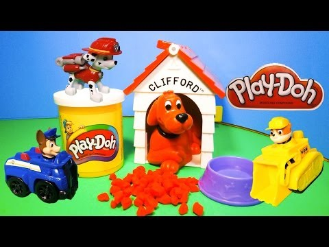 Paw Patrol Uses Play Doh to Help Clifford Toys Video