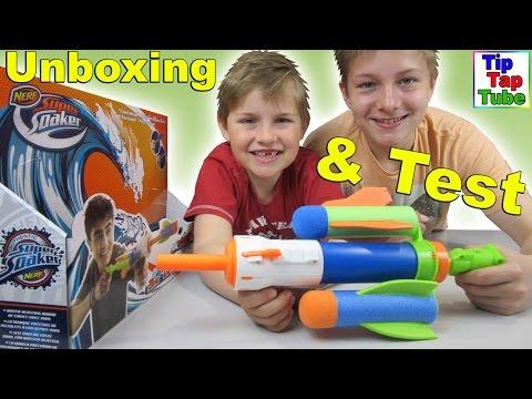 NERF SuperSoaker Tidal Torpedo Wasserpistole für coole Wasserschlachten Hasbro Spielzeug Kinderkanal