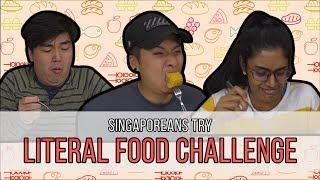 Video Singaporeans Try: Literal Food Challenge. e.g CARROT+CAKE MP3, 3GP, MP4, WEBM, AVI, FLV Maret 2019