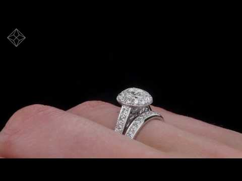 UT62 - 18K White Gold Danielle Diamond Wedding & Engagement Ring Set