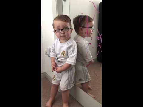 Little Boy Blames Batman for Lipstick Drawing on Mirror