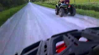8. 2013 Kawasaki Brute Force 750 vs 2013 Can am Outlander 650 Race