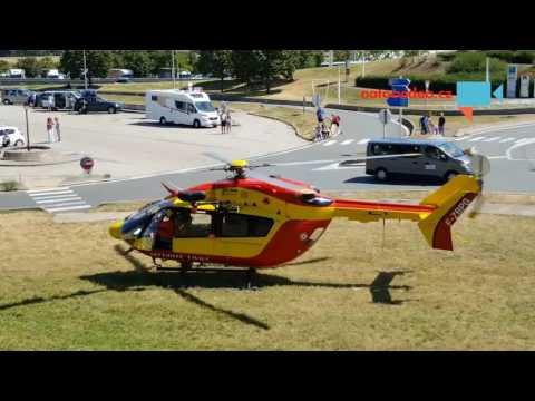 Start záchranářského vrtulníku