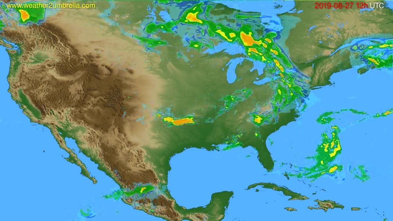 Radar forecast USA & Canada // modelrun: 00h UTC 2019-08-27