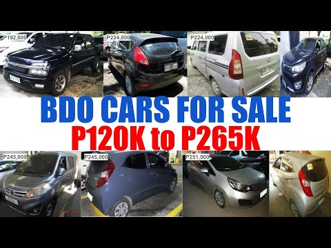 BDO REPOSSESSED CARS for SALE PRICE from P120K to P265K