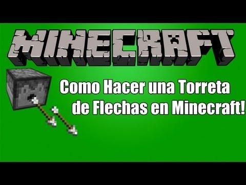 Minecraft| Como Hacer una Torreta (Metralleta de Flechas) Rapido y Facil! :)