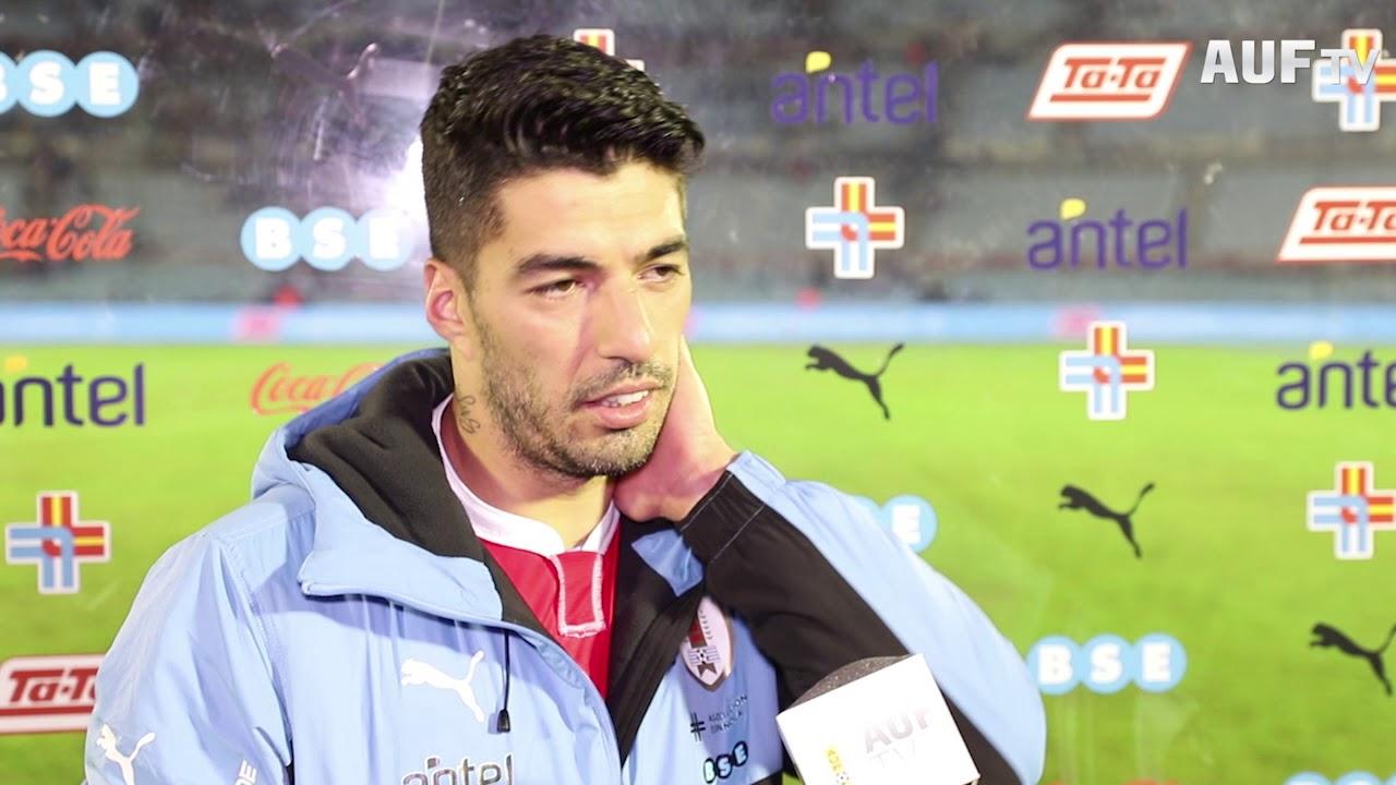 Luis Suárez en la despedida celeste
