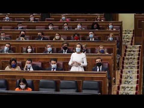 Cuca Gamarra interviene en la sesión de control al Gobierno