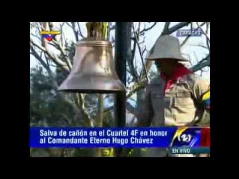 cuartel de la montaña - Primero se cae la bandera de Cuba delante de Raul Castro, y ahora se rompe la campana delante del muerto, ¿señales?
