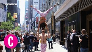 Max Lowenstein and Liz Kong (@maxandlizacro) took to the streets of NYC to perform some of their best acroyoga moves. SUBSCRIBE to Cosmopolitan: http://bit.ly/SUBSCRIBEtoCOSMOCosmopolitan Official Site: http://Cosmopolitan.com Cosmopolitan on FACEBOOK: http://bit.ly/CosmoFBCosmopolitan on TWITTER: http://bit.ly/CosmoTwitterCosmopolitan on GOOGLE+: http://bit.ly/CosmoGoogleCosmopolitan on PINTEREST: http://bit.ly/CosmoPinsCosmopolitan on INSTAGRAM: http://bit.ly/CosmoInsta