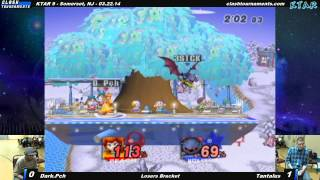 By far the Brawl highlight of KTAR 9: An explosive match between local low-tier hero Dark Peach and Baltimore Tournament Organizer Tantalus.